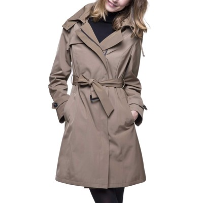 f2a12e6928c9 Trench and coat BABADA - Trench zippé à capuche - beige