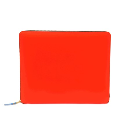Pochette en cuir - orange