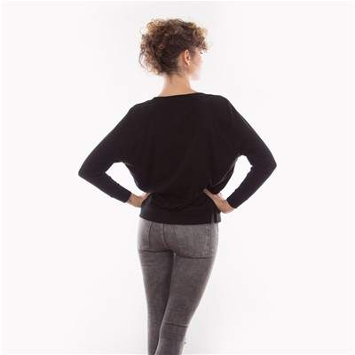 FRENCH DISORDER Geek but chic - Sweat en coton - noir