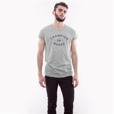 FRENCH DISORDER Champion du monde - T-shirt - gris