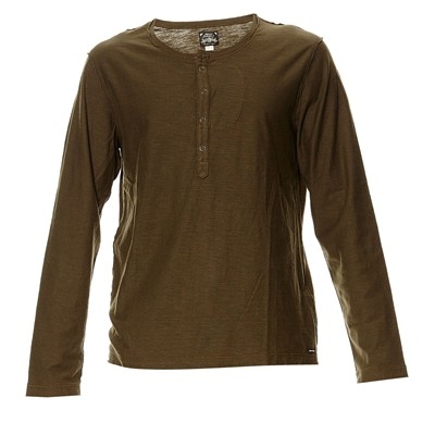 DIESEL T-Canope - T-shirt manches longues - olive