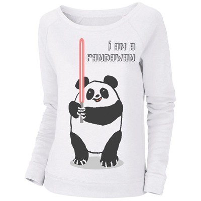 I'm a Pandawan - Sweat-shirt - blanc