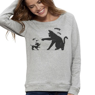 ARTECITA Cat Power - Sweat-shirt - gris clair