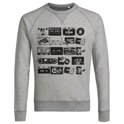 Cassettes Audio Vintage - Sweat-shirt - gris clair