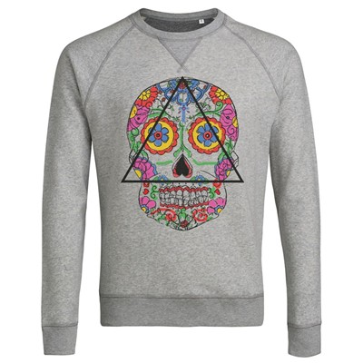 Santa Muerte - Sweat-shirt - gris clair