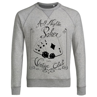 Poker Addict - Sweat-shirt - gris clair
