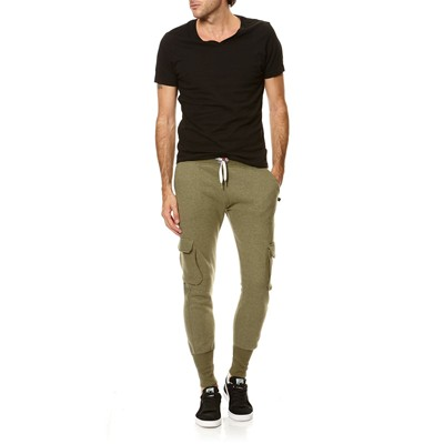 SWEET PANTS CARGO FLEECE - Pantalon jogging cargo - kaki