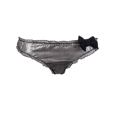 OH YOU PRETTY THINGS - Culotte en soie rayée lurex et plumetis - argent