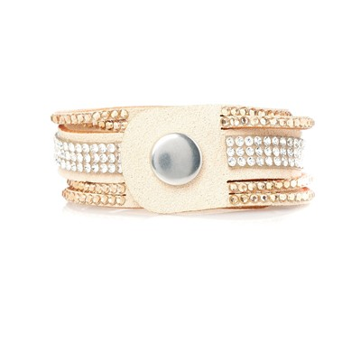 Fiesta Sable - Bracelet multi-rangs - beige