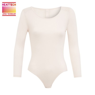 PRINCESSE TAM.TAM Inner Uniqlo Heattech - T-shirt manches longues - blanc rose