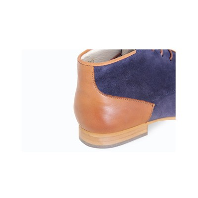LONESOME DETAIL James - Bottines en cuir bicolore - bleu