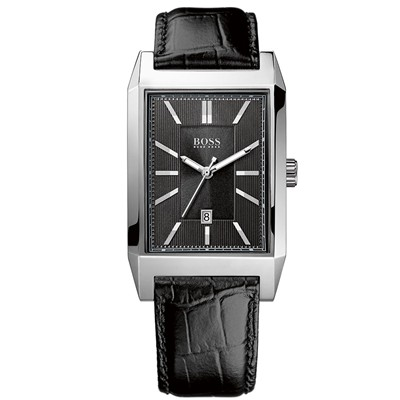 BOSS BLACK Montre bracelet en cuir