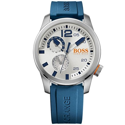 BOSS ORANGE Montre bracelet en silicone - bleu