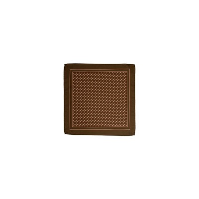 POCHETTE SQUARE Brown Sugar - Pochette en soie - marron
