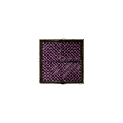 POCHETTE SQUARE Eye in the Square - Pochette en soie - noir