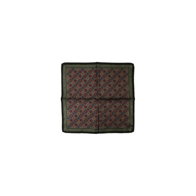 POCHETTE SQUARE Eye in the Square - Pochette en soie - vert