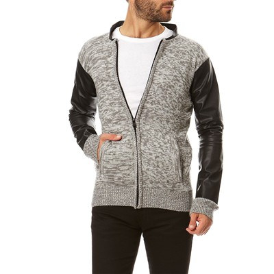 HOPE N LIFE CYO - Gilet avec manche simili cuir - anthracite