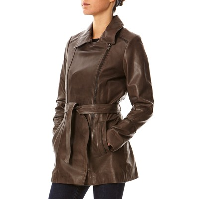 Spring - Trench en cuir - marron