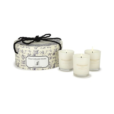 Tea Collection - Coffret de 3 bougies - blanc