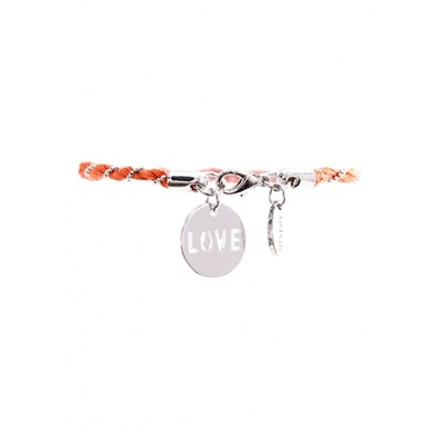 L'amitié - Bracelet cordon - orange