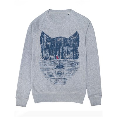 MONSIEUR POULET The Trap - Sweat-shirt - gris chine