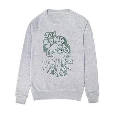 MONSIEUR POULET Sad Song - Sweat-shirt - gris chine