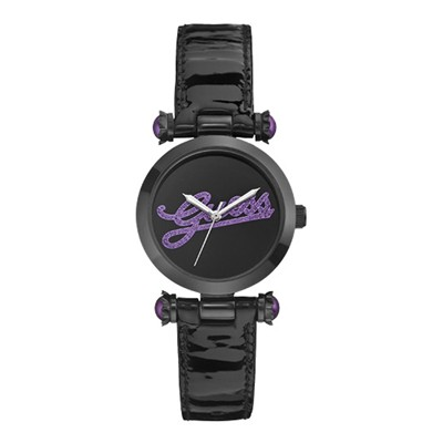 Guess Collection montre en cuir - noir
