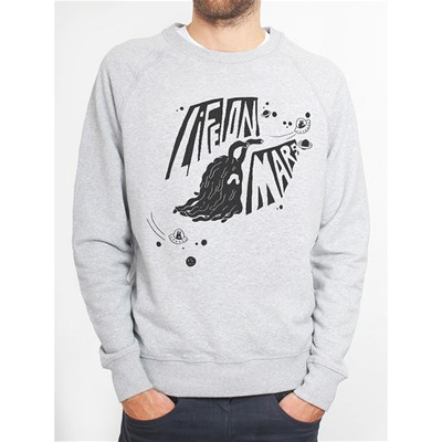 MONSIEUR POULET Life On Mars - Sweat-shirt - gris chine