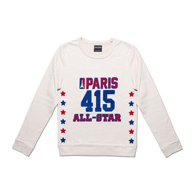 QUATRE CENT QUINZE Paris All-Star - Sweat-shirt - crème