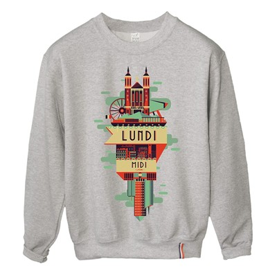 LUNDI MIDI Lyon - Sweat-shirt - gris