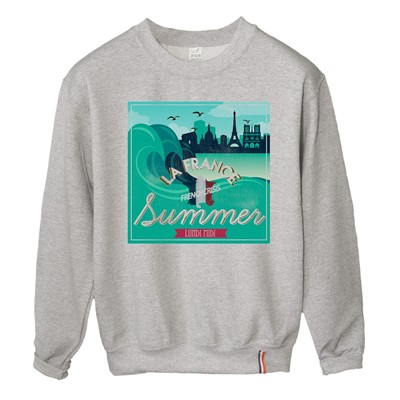 LUNDI MIDI Summer - Sweat-shirt - gris