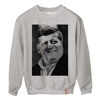 LUNDI MIDI John feat Gérard Kennedy - Sweat-shirt - gris
