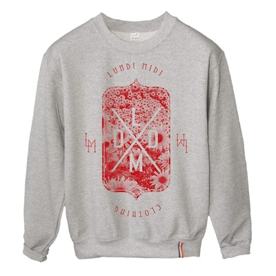 LUNDI MIDI Flowers - Sweat-shirt - gris