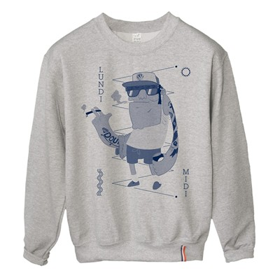 LUNDI MIDI Beach - Sweat-shirt - gris