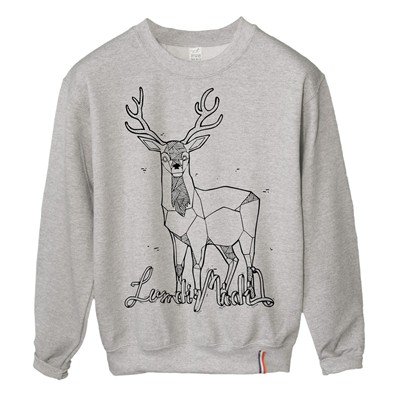 LUNDI MIDI Biche - Sweat-shirt - gris