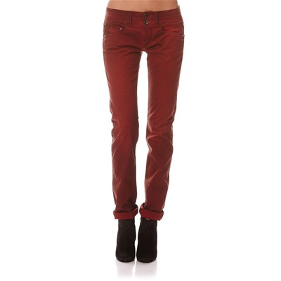 Damia Gabardine Stretch - Jean droit - rouge