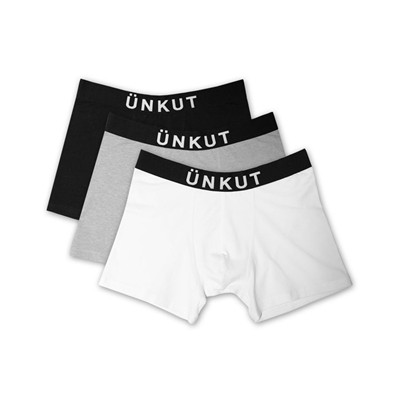 ÜNKUT Basic - Lot de 3 boxers - noir