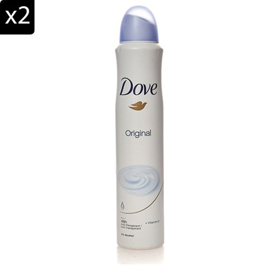 DOVE Original - Lot de 2 déodorants ORIGINAL - 200 ml