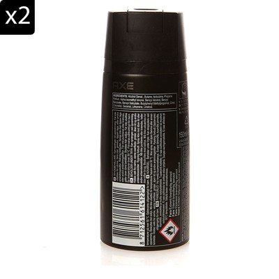 AXE Lot de 2 déodorants Black - 150 ml