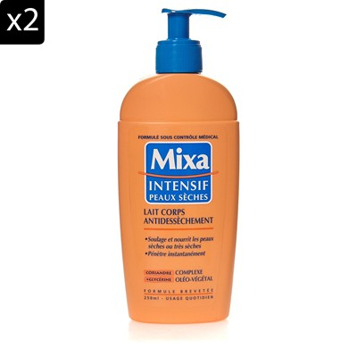 MIXA Lot de 2 Laits de corps Antidessèchement - 250 ml