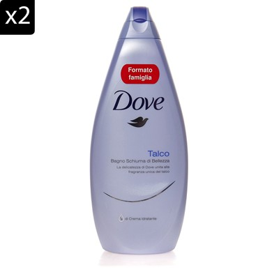 DOVE Lot de 2 gels douche Talc - 700 ml