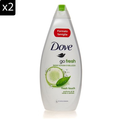DOVE Go Fresh - Lot de 2 gels douche - 700 ml
