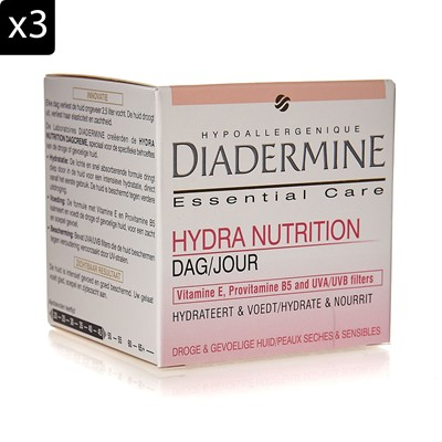 DIADERMINE Essential Care - Lot de 3 crèmes hydratantes Jour - 50 ml