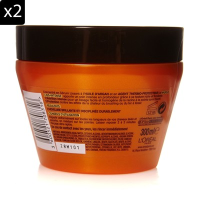 L'ORÉAL PARIS Lot de 2 masques surconcentré - 300 ml