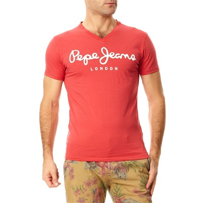 Original stretch V - T-shirt - rouge