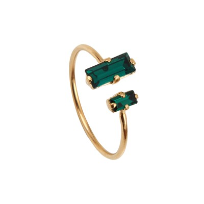 Palace Double - Bague - Emerald