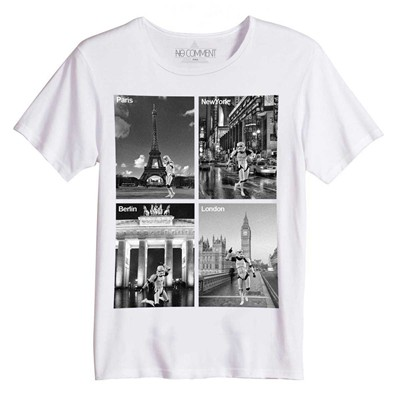 NO COMMENT PARIS Trooper dancing - T-shirt manches courtes - blanc