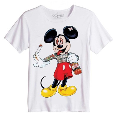 NO COMMENT PARIS Mickey Dope - Top/tee-shirt - blanc
