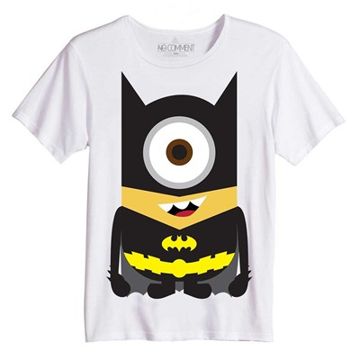 NO COMMENT PARIS Batman Minion - Top/tee-shirt - blanc