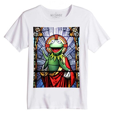 NO COMMENT PARIS Kermit la grenouille - Top/tee-shirt - blanc